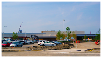 The pending downtown Chicago casino will involve a different set of construction challenges than the Rivers Casino in Des Plaines (shown here).