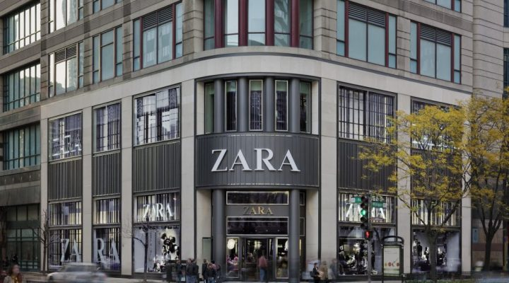 Spanish retailer Zara on Michigan Avenue